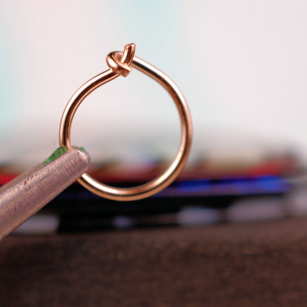 14 karat rose gold nose ring