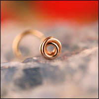 14k rose gold nose jewelry