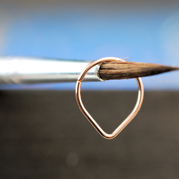 14 karat rose gold septum ring