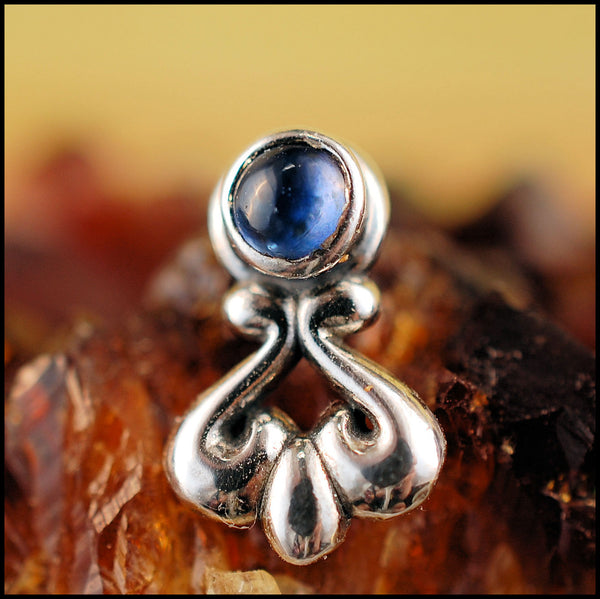 Sapphire Nose Stud in Unique Bold Style