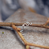Snake Nose Stud in Sterling Silver
