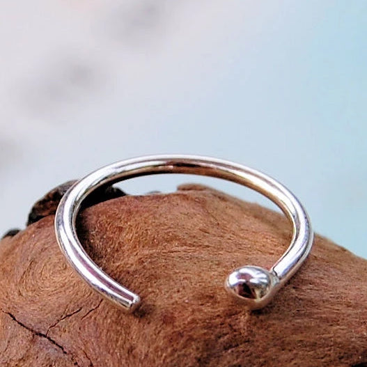 Silver Open Nose Ring Hoop Rock Your Nose Jewelry Inc