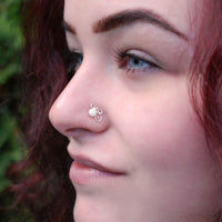nickel-free sterling silver nose jewelry with pearl