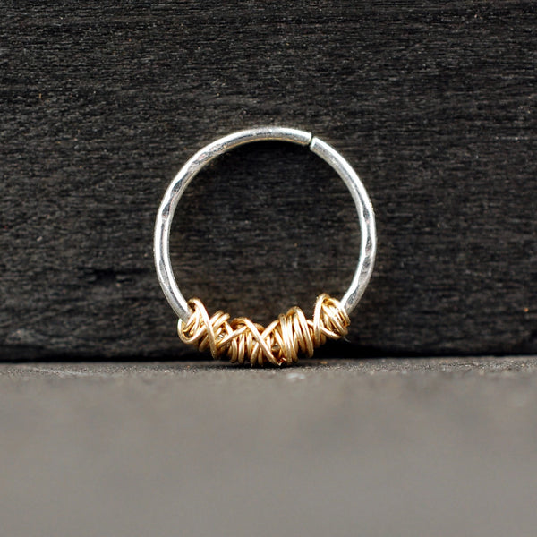 tangled gold septum ring
