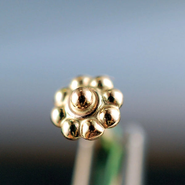 14 karat yellow gold nose stud