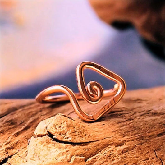 14 karat rose gold tribal nose ring