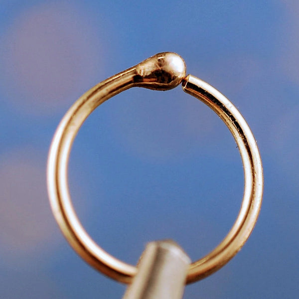 14k yellow gold nose ring