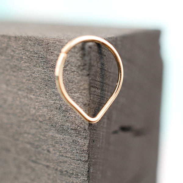 14 karat yellow gold septum ring