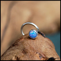 blue opal nose screw