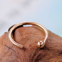 Solid Gold Open Hoop Nose Ring
