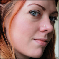 gold tribal goddess nose stud