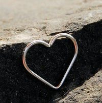 nickel-free sterling silver heart earring