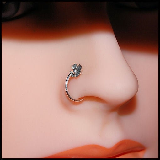 Flower Blossom Nose Ring in Sterling Silver