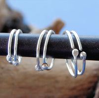 Sterling Silver Graduated Hoop Set