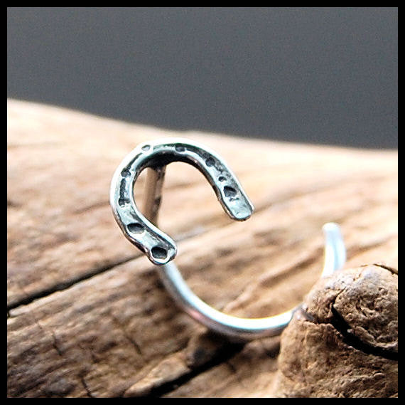 Horseshoe Nose Stud in Sterling Silver
