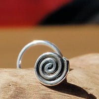 large spiral sterling silver nose jewelry