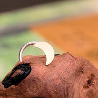 14 karat rose gold crescent moon nose jewelry