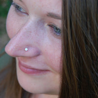 rose gold opal nose ring