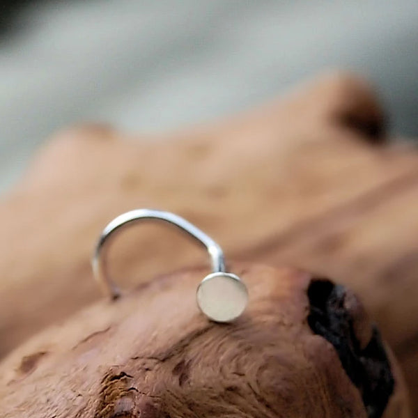 dainty sterling silver nose stud