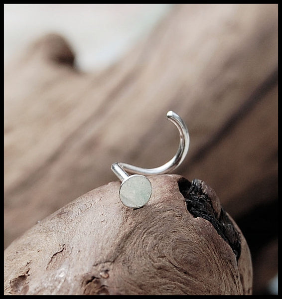 Silver Spot Nose Stud in 3mm - Sterling Silver