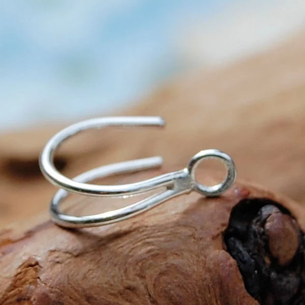 The Enhancer - Turn Your Stud into a Double Hoop with this Enhancer! Solid Silver