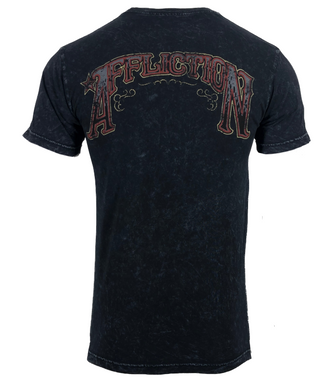 AMERICAN FIGHTER Siena Heights FM6173 Men`s New Blue T-shirt By Affliction