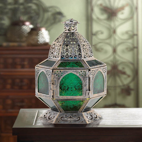 Basilica Candle Lantern Pressed Glass Panels