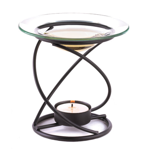 Graceful Spiral Oil Warmer Add Warming Tealight Below