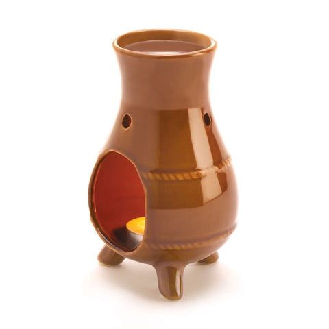 Earthen Oven Oil Warmer Mixed Matte Terracotta Finish