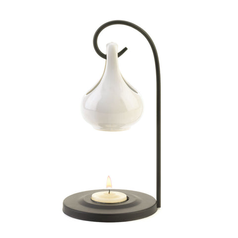Dollop Tear Drop Oil Warmer - White