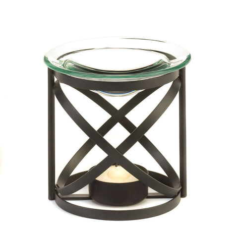 Orbital Dark Metal Oil Warmer