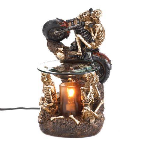 Motorcycle Skeleton Rollicking Oil Warmer