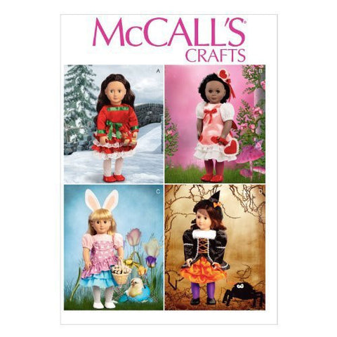McCall's M6805 Sewing Pattern Holiday Clothes and Accessories for 18-Inch Doll