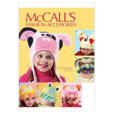 McCall's M6616 Sewing Patterns Children's Hats Sewing Pattern, All Sizes