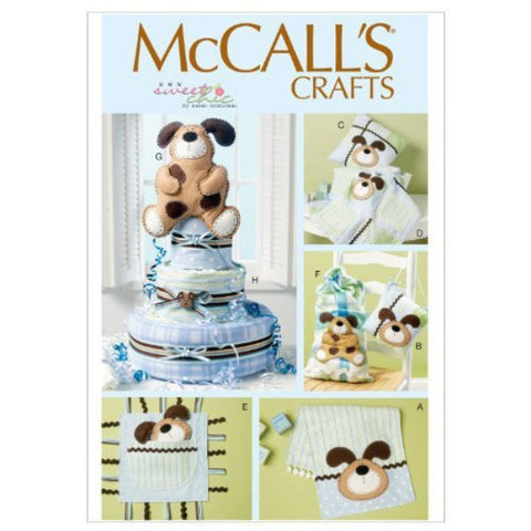 McCall's 6524 Sewing Patterns Burp Cloth, Pillow In 2 Sizes, Blanket, Toys, Sack
