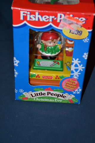 FISHER PRICE 1999 LITTLE PEOPLE CHRISTMAS EVE ELF EXCLUSIVE ORNAMENT Vintage