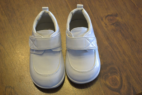 Tendertoes Infant Boys White Dress Strap Shoes Size 3