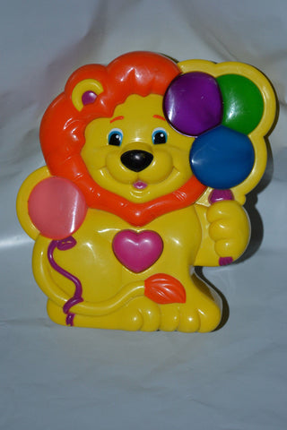 1997 Jakks Yellow Lion Balloon  Crib Soother Musical Toy