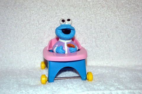 Jim Henson Sesame Street Cookie Monster in Rolling High Chair by Illco