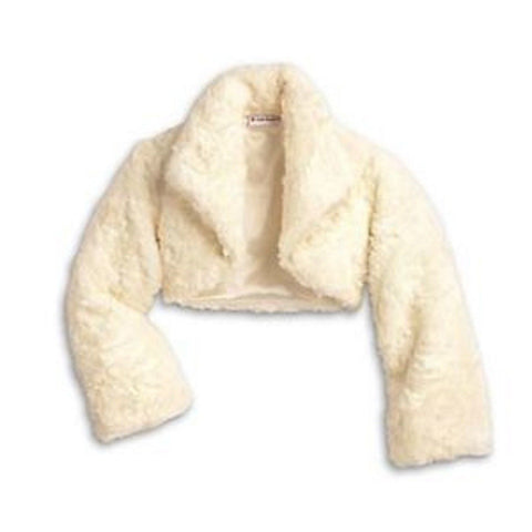 American Girl Long Sleeve Cream Fancy Shrug Jacket for Girls