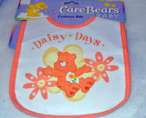 Care Bears Baby Toddler Infant Daisy Days Cotton Bib Unisex