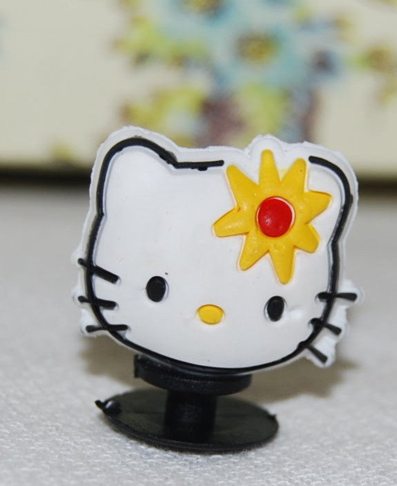 3D Sanrio Hello Kitty Cake Topper Decoration Yellow Flower
