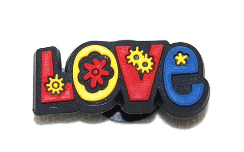 *LOVE* Retro Groovy Flower Power Shoe Charm