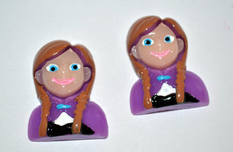 Brave Merida Girl Resin Cabochons Flat Back Scrapbooking and Craft Supplies