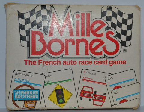 Vintage Mille Bornes French Auto Race Card Game by Parker Brothers