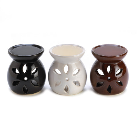 Decorative Ceramic Mini Oil Warmer Trio Set of 3
