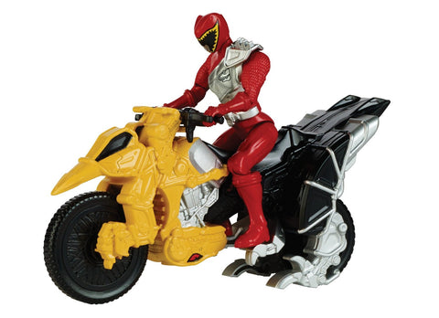 "Ban Dai Saban's Power Rangers Dino Charge Dino Cycle & 5"" Red Ranger Action Figure"