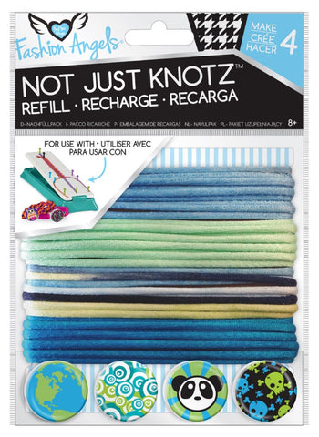 Girls Fashion Angels Not Just Knotz Bracelet Refill Kit - Blues
