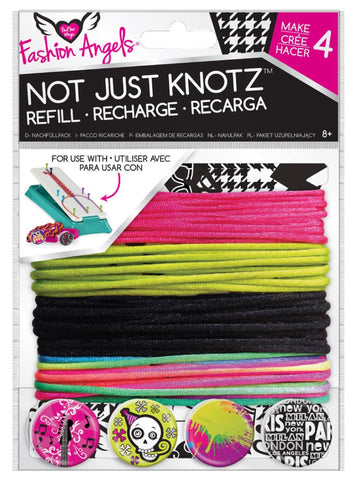 Girls Fashion Angels Not Just Knotz Bracelet Refill Kit - Hot Pink