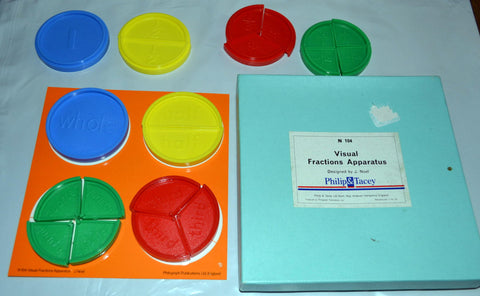 Philip & Tacey Visual Fractions Apparatus N104 Teaches Fraction Reasoning UK
